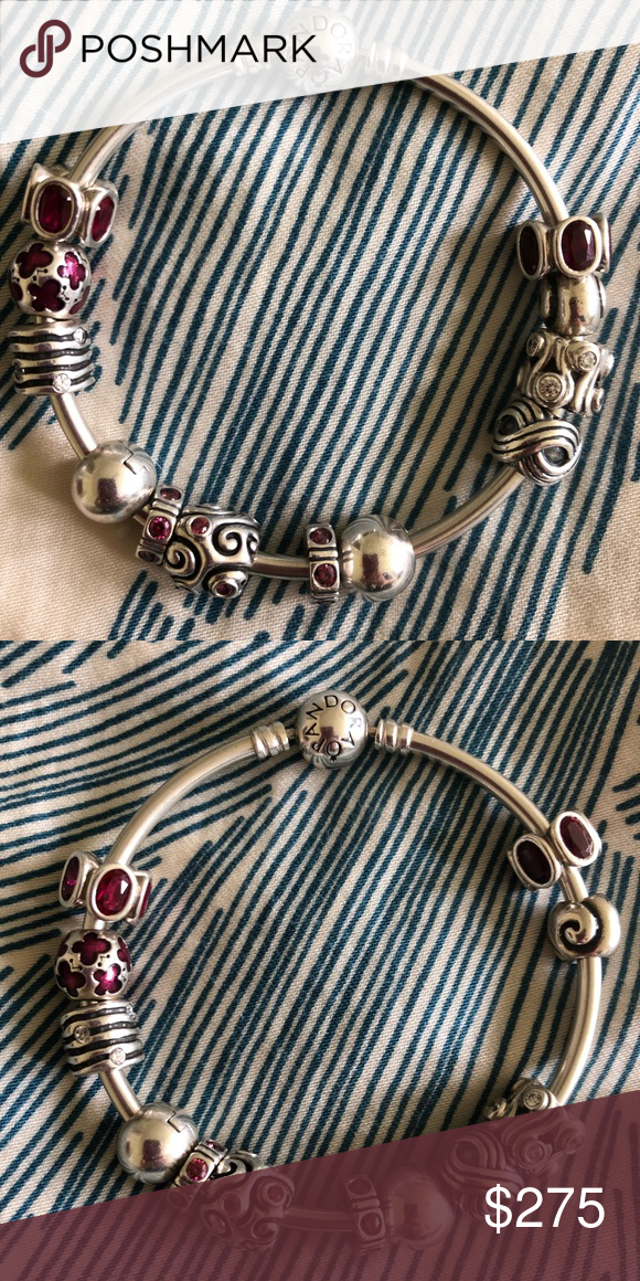 1a0c75ef4 Pandora Bangle Bracelet and Pandora Charms Absolutely beautiful Pandora  bangle bracelet and charms. Everything is authentic Pandora, and was  purchased at a ...
