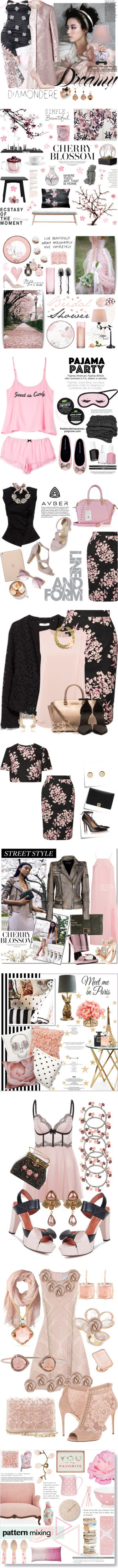 """""""Pink Cherry Blossom"""" by yours-styling-best-friend ❤ liked on Polyvore"""