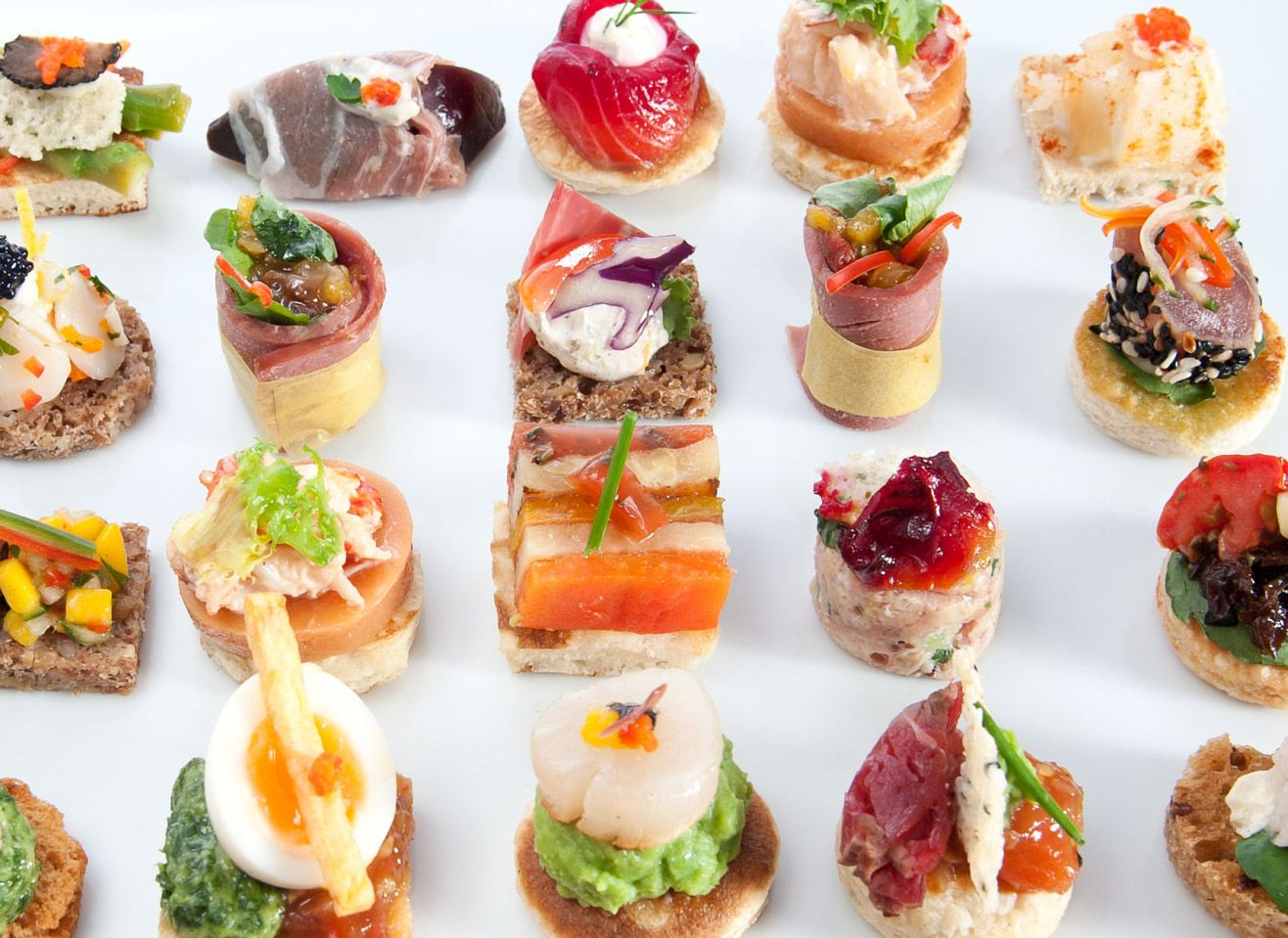 Our canap s canap world catering london canap s main for Party canape ideas