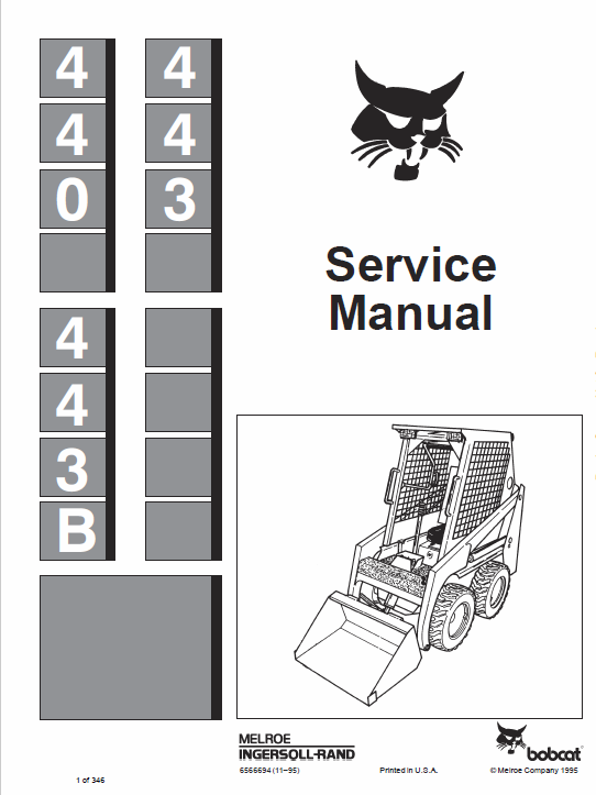 Bobcat 440 443 And 443b Skidsteer Loader Operating Service Manual: Bobcat 5610 Joystick Wire Diagram At Johnprice.co