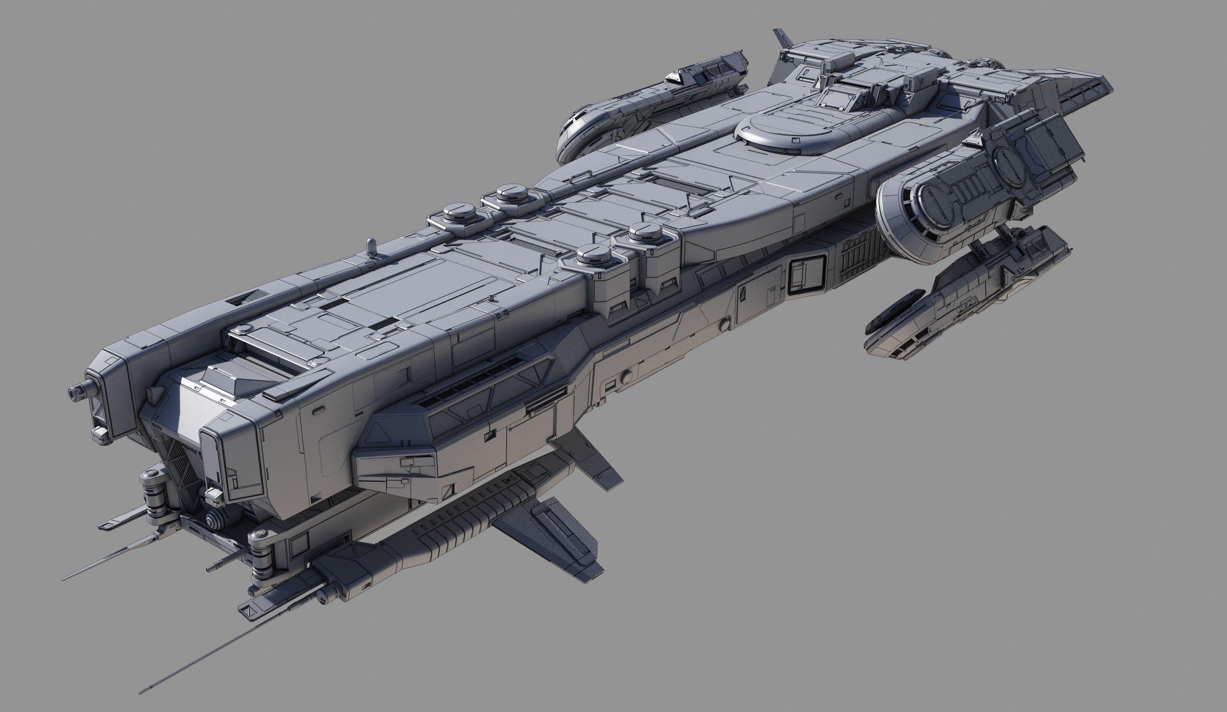 Battlecruiser Class A | 3D model in 2020 | Spaceship ...