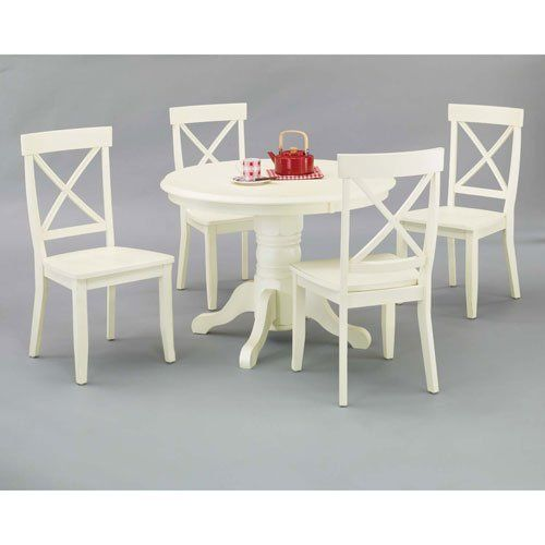 Home Styles 5177 318 5 Piece Dining Set, Antique White Finish Home Styles