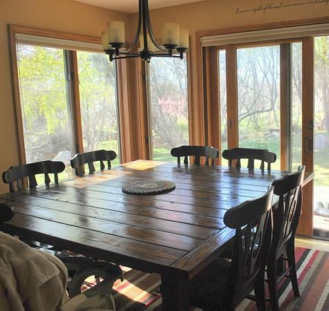Farmhouse Table~squared. | Do It Yourself Home Projects From Ana White ·  Square Dining TablesLarge ...