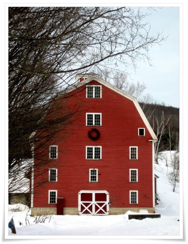 Everyone needs a big red barn- espcecially the ponies.
