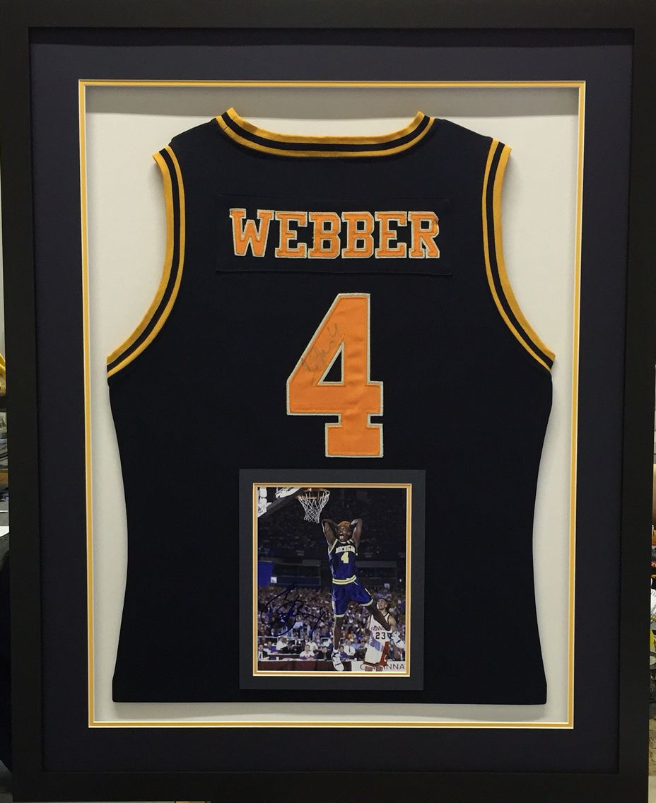 Chris Webber\'s University of Michigan jersey. Signed jersey and ...