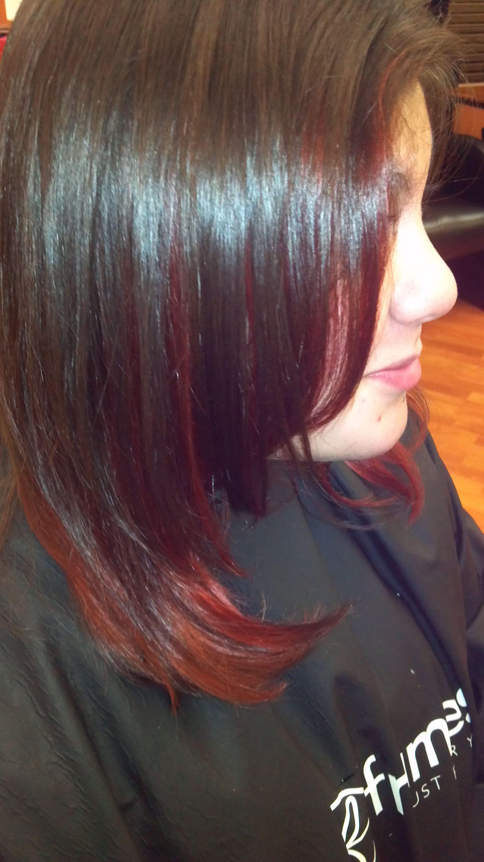 Medium length with color peekaboo hair pinterest hair style