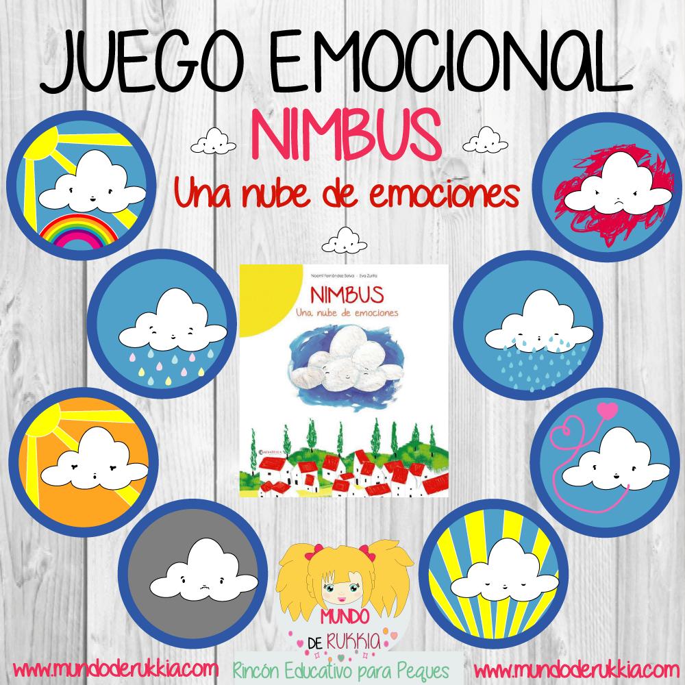 Juego Emocional De Nimbus Una Nube De Emociones Emociones Las Emociones Para Niños Emociones Preescolares