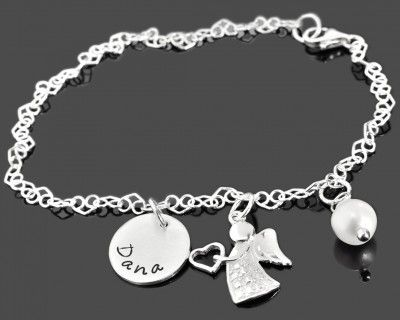 Namensarmband mit Gravur Taufarmband mit Namen Kinderschmuck 925 Silber