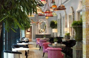 eclectic hotel interior decor
