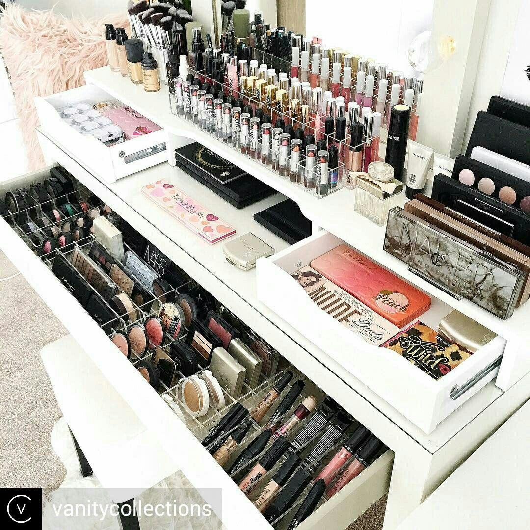 Pin by Eve on Makeup organization | Pinterest | Make up, Vanities ...