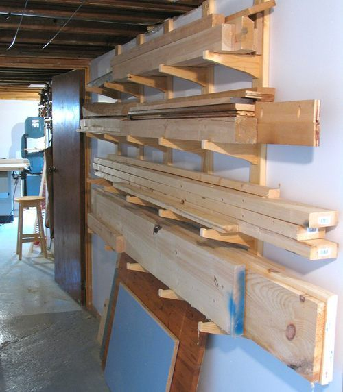 Photo of lumber storage solutions | Wood Storage Rack Plans | Storage  — Machine shed??