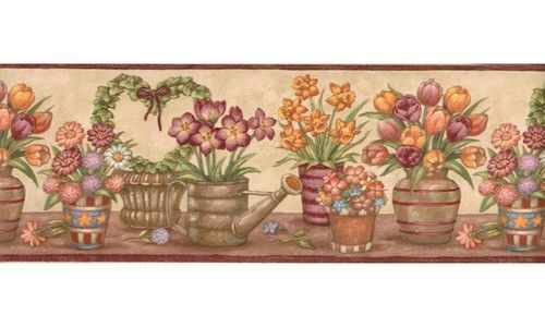 Floral BV006152 BV6152 Wallpaper Border