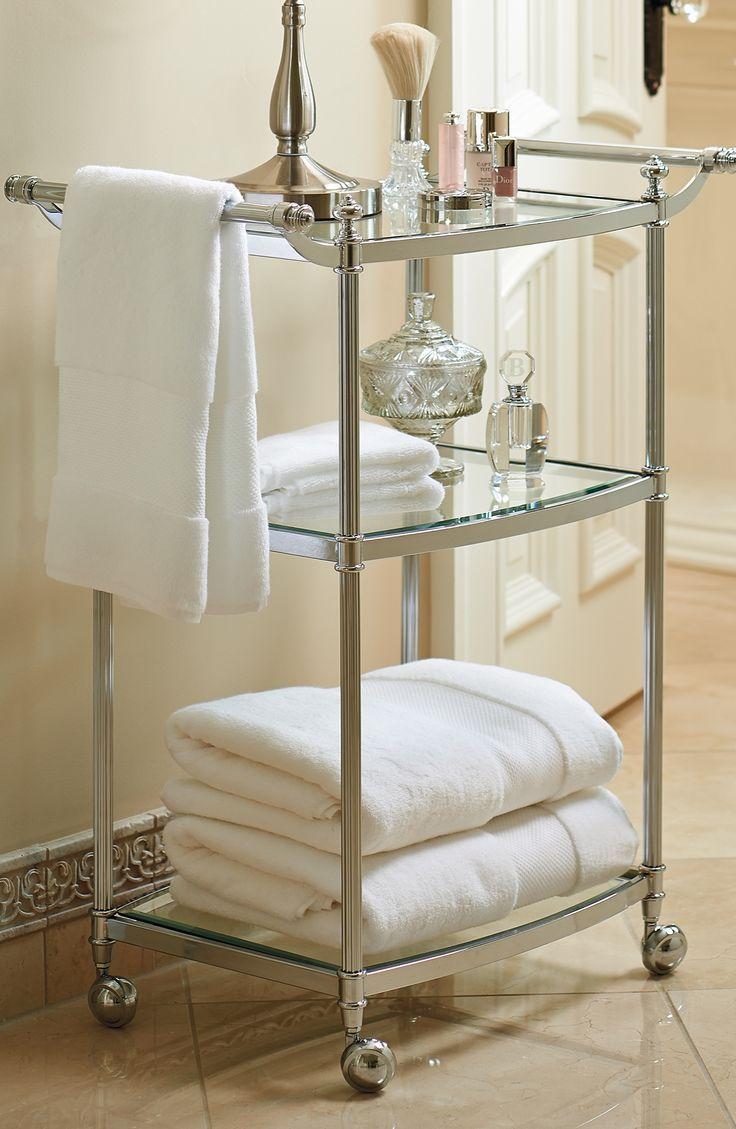 towel cart | BATHROOMS | Pinterest | Towels, Bath and Powder room