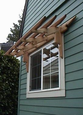 Craftsman Style Pergola Awnings I Absolutely Love These Over Windows Offset The Front Of