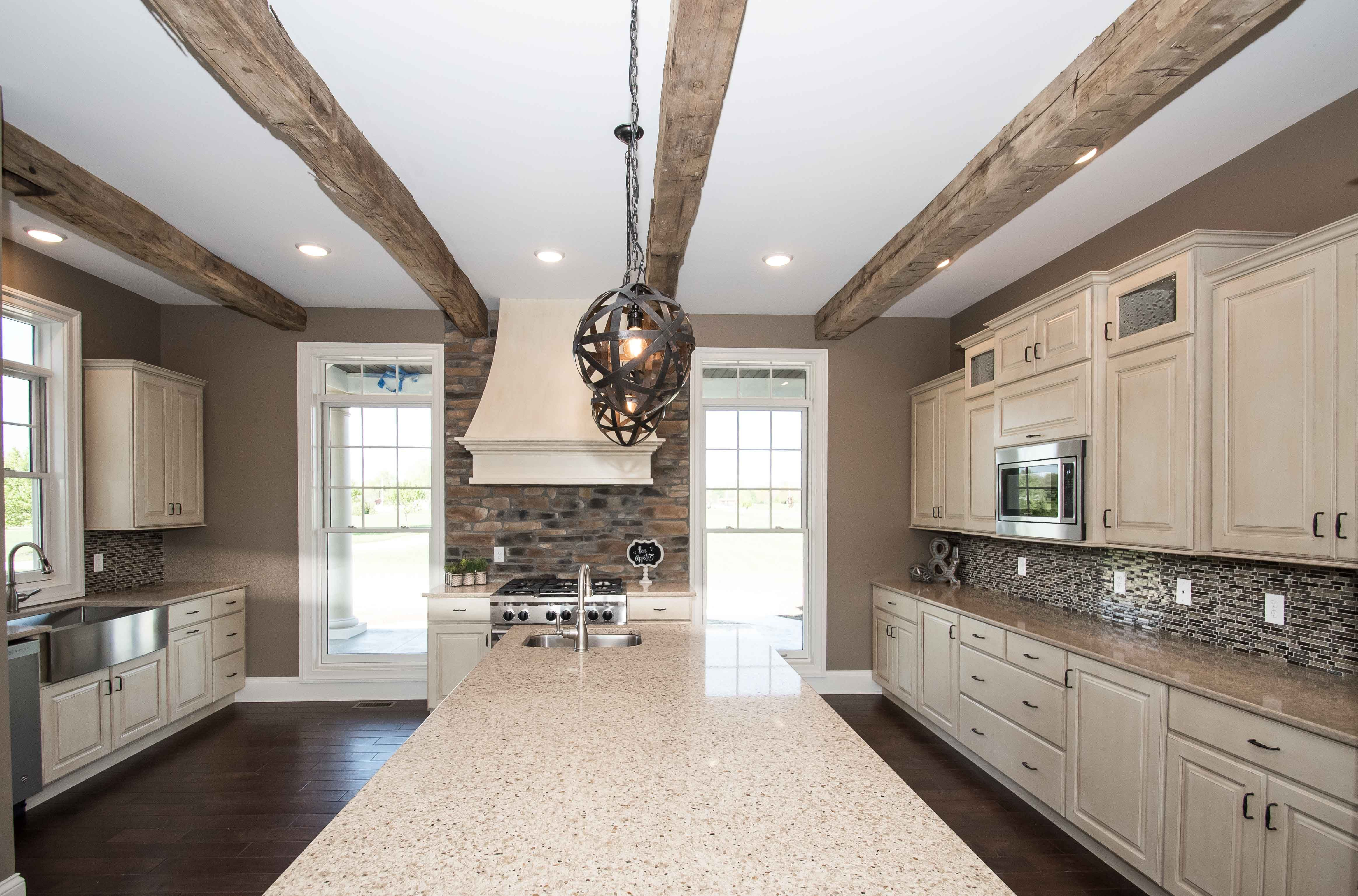 Custom Kitchen   Custom Painted Cabinets With Glaze For Perimeter, #76023  Baymont Maple For
