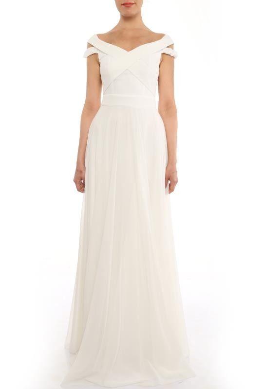 Laura A-Linie Abendkleid Weiß | Abendkleider 2018 - günstig ...