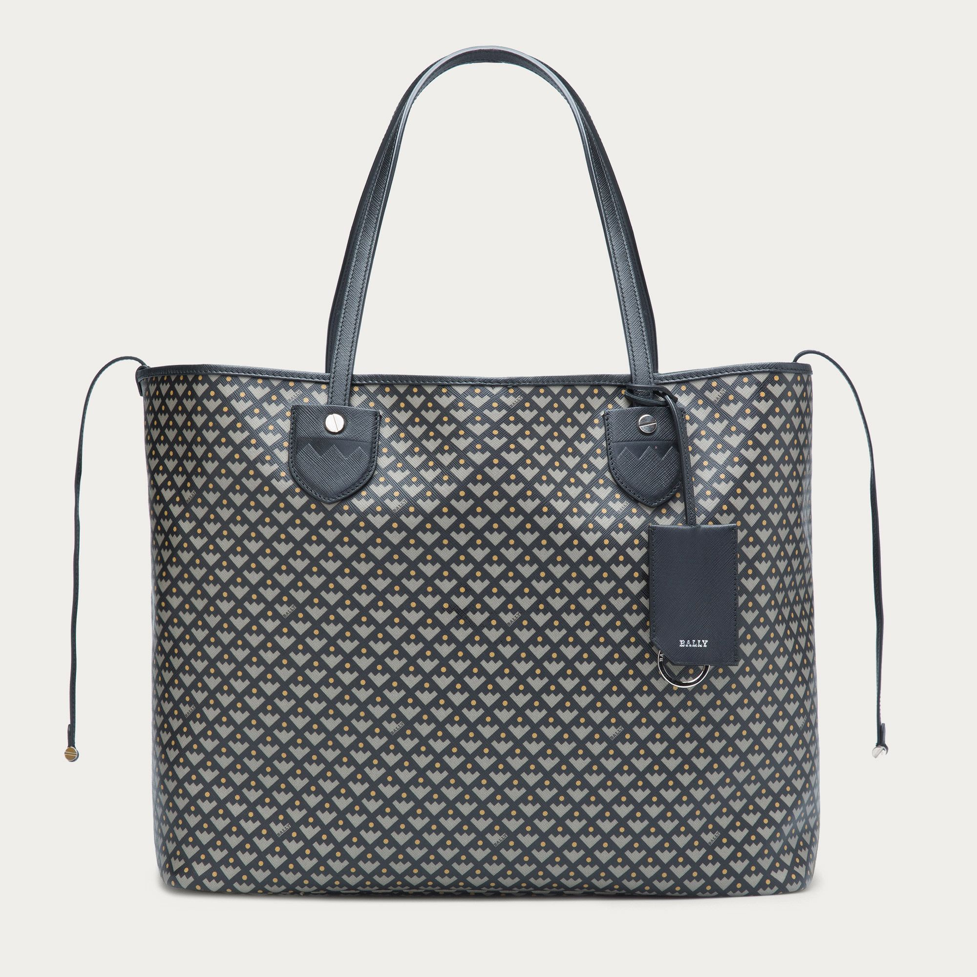 Women's large coated canvas tote bag | BERNINA LARGE | Bally Totes ...