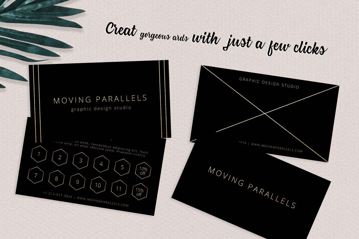 ad black gold business  loyalty cardsmoving