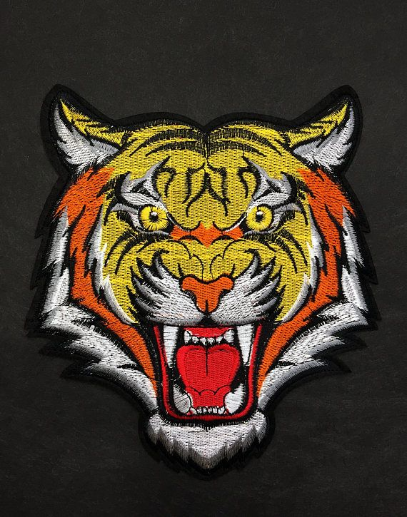a7ae2eea36f Iron on Patch-Tiger Embroidery Patch-Gucci Style Patch-Iron On Patch-Rose  Applique-Tiger Embroidery-Iron on Applique-Gucci Inspired Patch