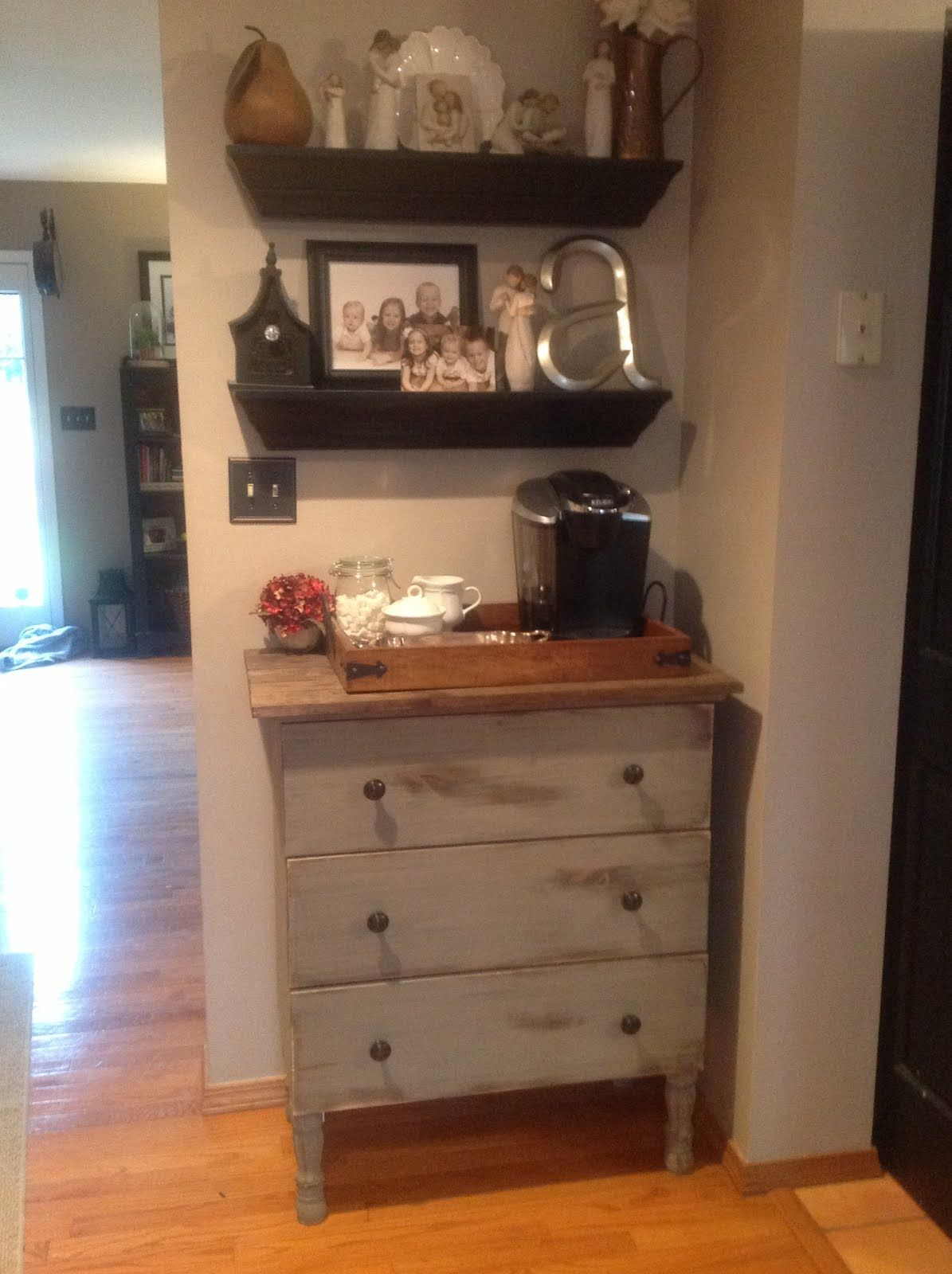 I Could Make A Coffee Station On Hemnes Dresser In Dressing Room For Getting Up The Morning IKEA Hackers TARVA Just Add Home Depot Legs