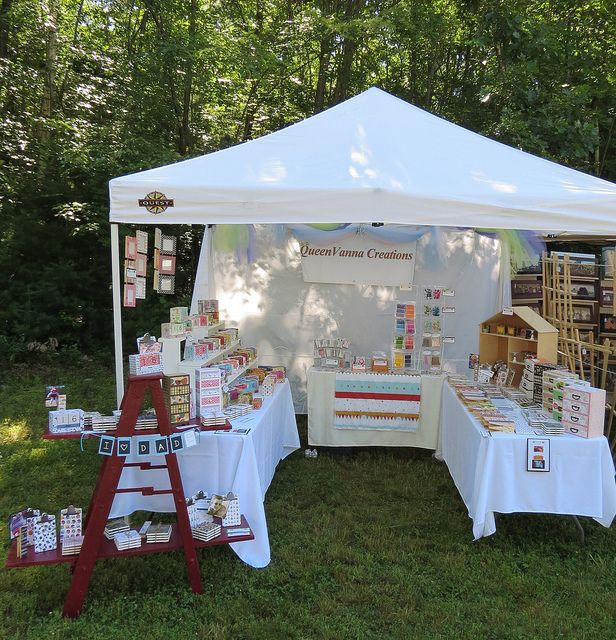 Craft fair displays & queenvanna creations craft show display | Creation crafts Display ...
