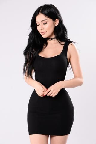 One of the Boys Dress - Black