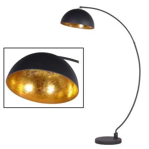 sand black gold shade arc floor lamp - Arc Floor Lamps