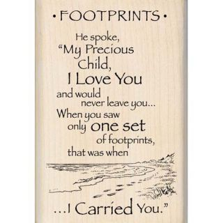 Inkadinkado Footprints In The Sand Poem Rubber Stamp 95201