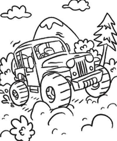 Jeep Race Off Road Coloring Page Off Road Car Car Coloring Pages