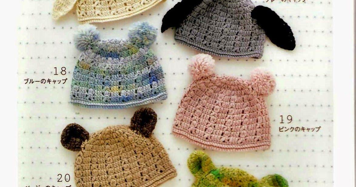 PATRONES GRATIS DE CROCHET: Patrón gorrito para niños con orejas a ...