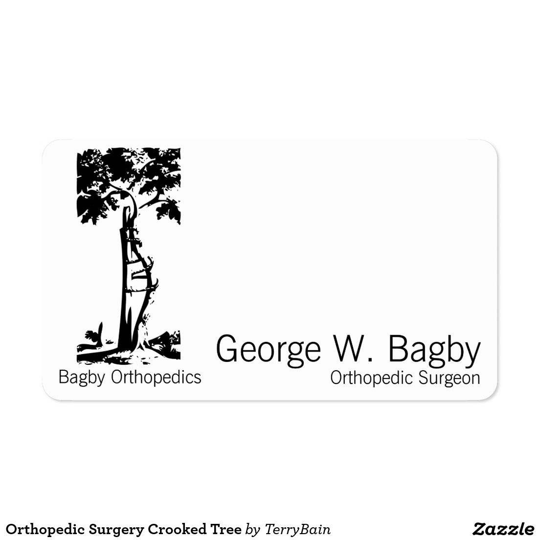 Orthopedic surgery crooked tree out of obscurity pinterest shop orthopedic surgery crooked tree business card created by terrybain magicingreecefo Choice Image