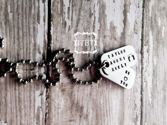 Secret Message Mini Dog Tag Necklace Daddy Of An Angel Little Boy Necklace Remembrance Jewelry Mini Dog Tag Remembrance Jewelry Dog Tag Necklace
