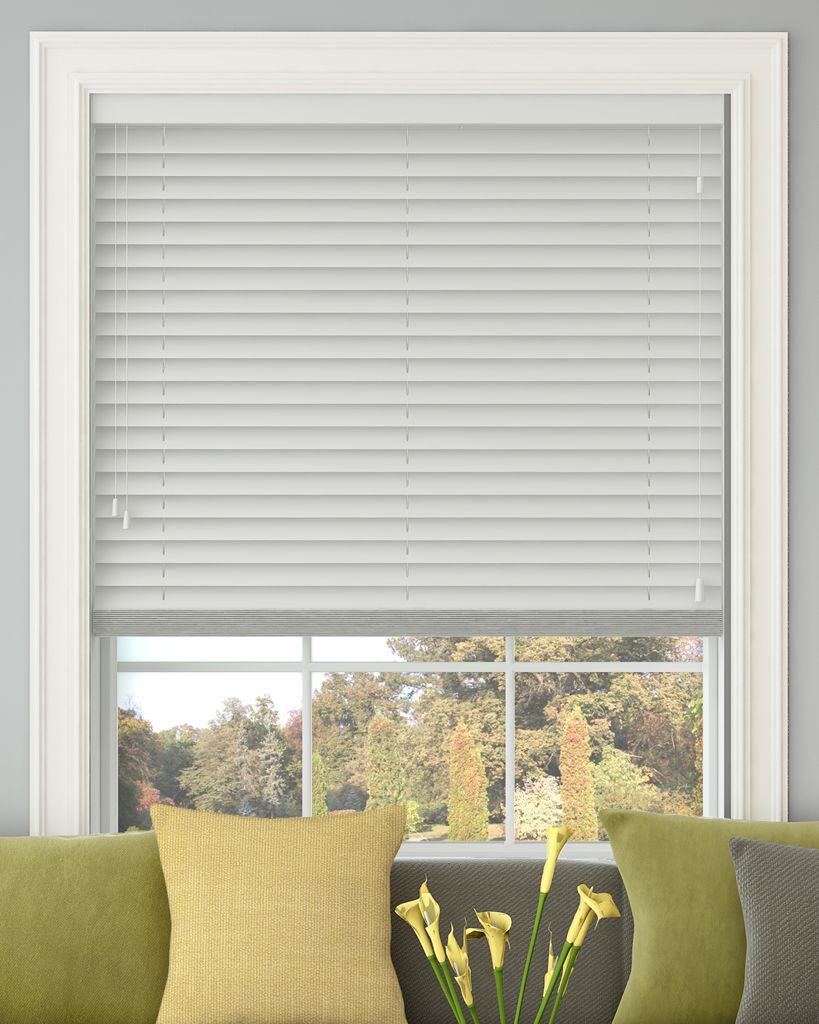 d925894f743e Polar White Wooden Venetian blind without tapes, 50mm slats - from Make My  Blinds