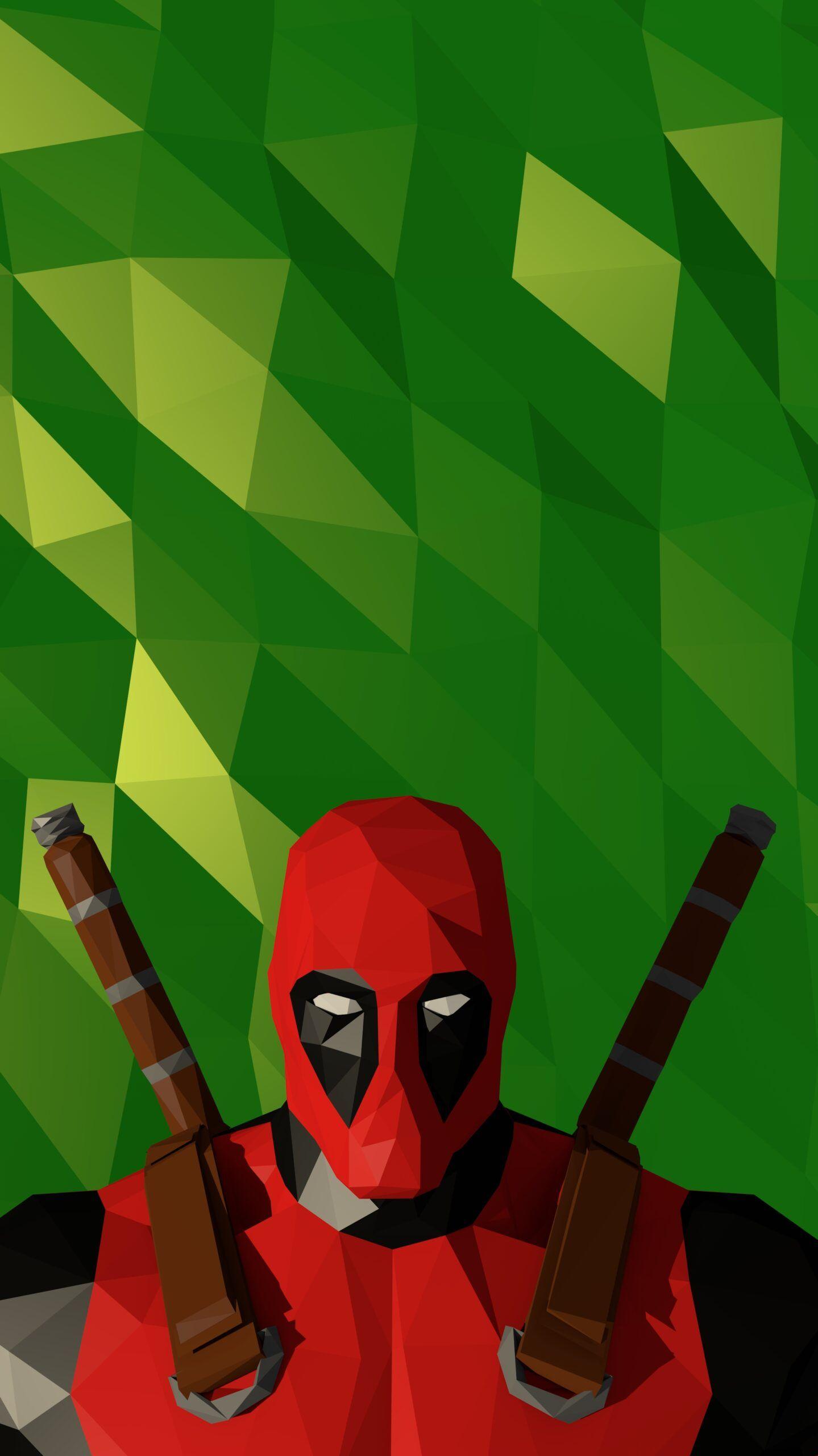 Deadpool Polygon Green Iphone Wallpaper In 2020 Deadpool