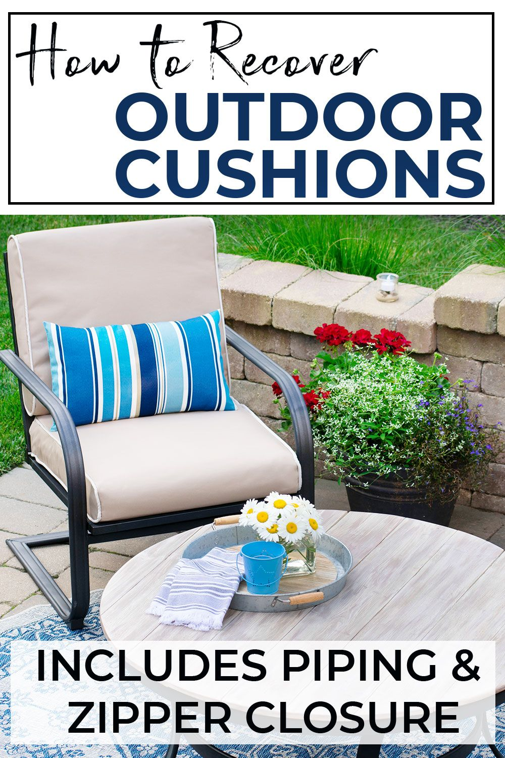 How To Recover Your Outdoor Cushions For Your Deck or