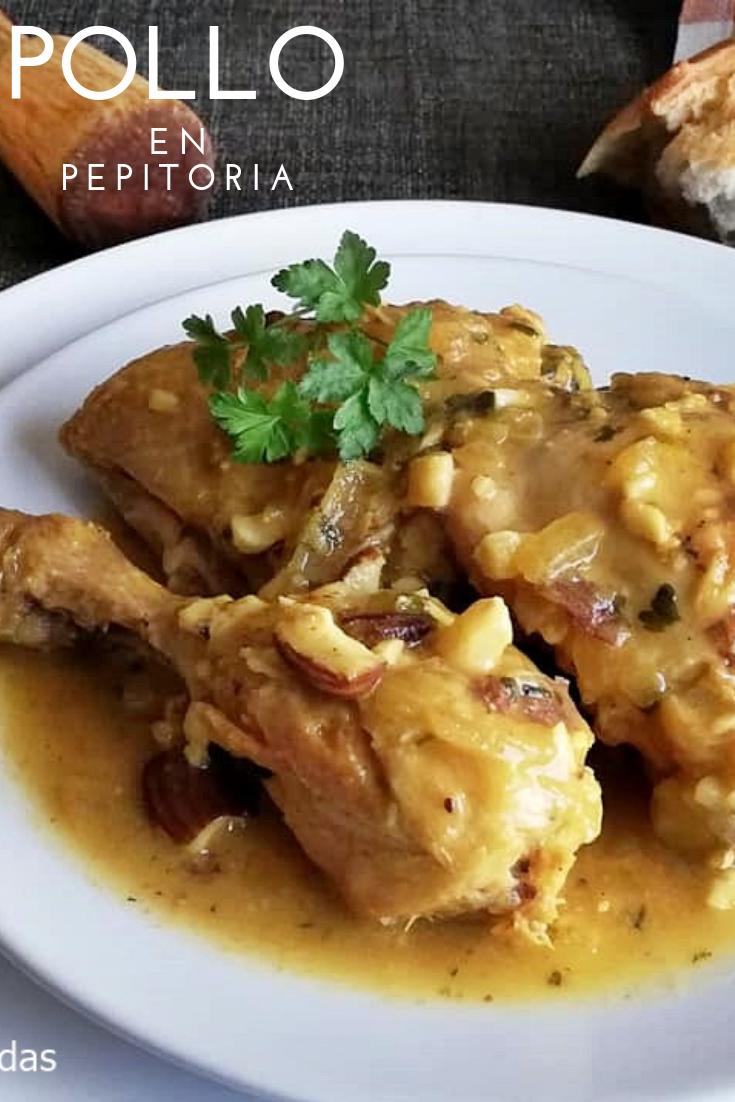 Pollo En Pepitoria Receta Pollo En Pepitoria Pollo En Pepitoria Recetas De Comida