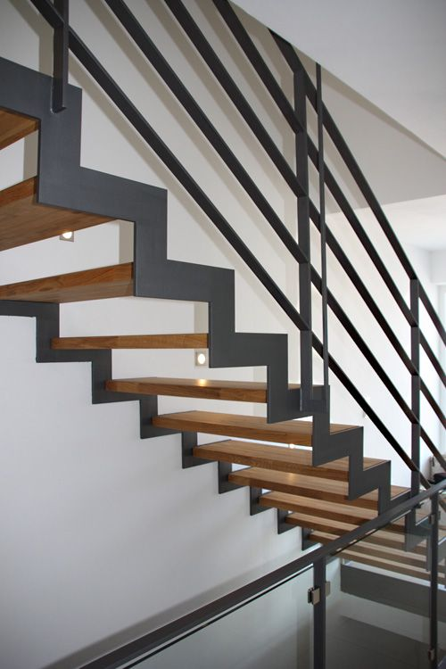 stahl holz treppen design stairs pinterest. Black Bedroom Furniture Sets. Home Design Ideas