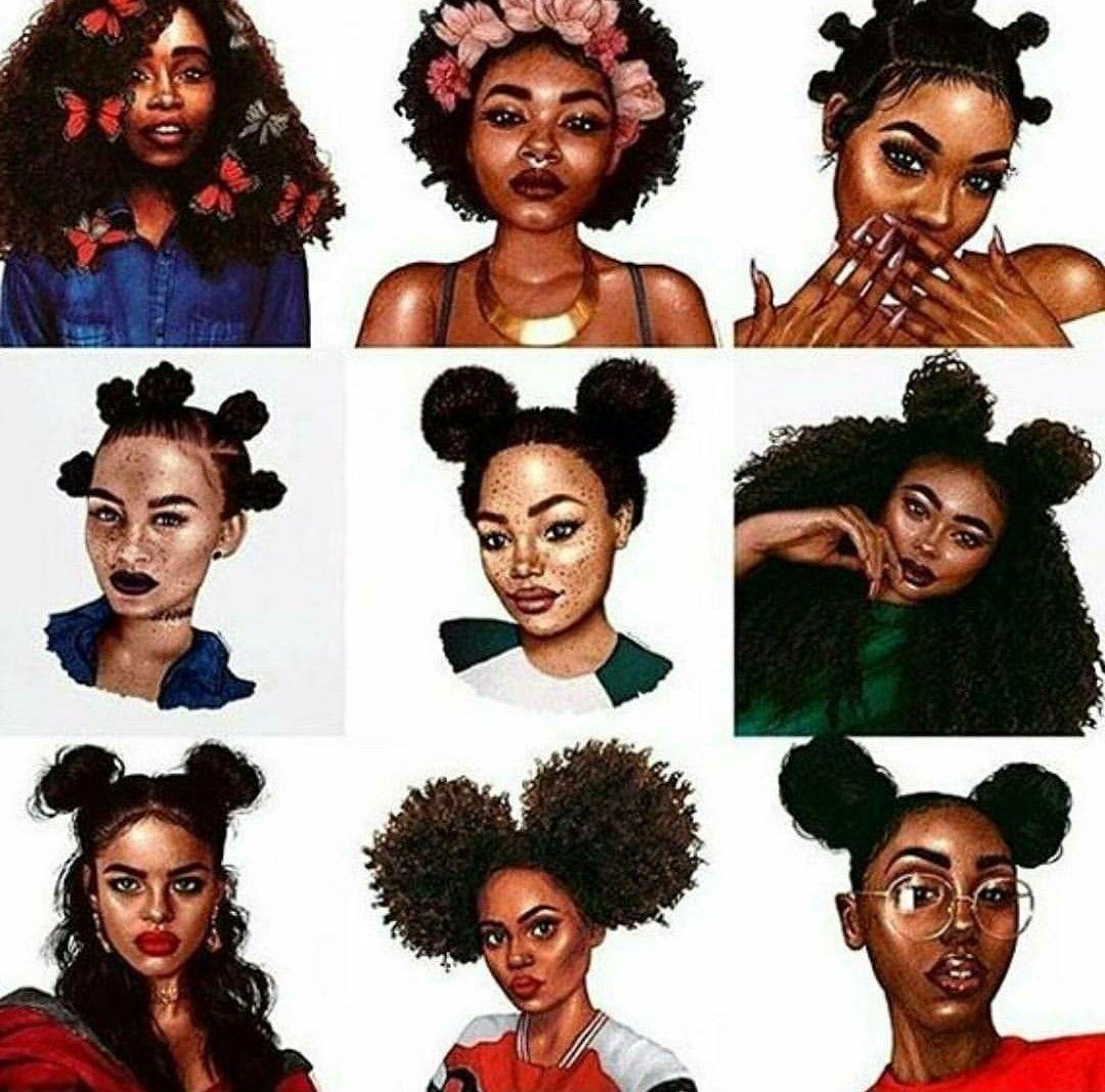Pin By Kershiek On Black Art Black Girl Cartoon Natural Hair Styles Black Girl Art