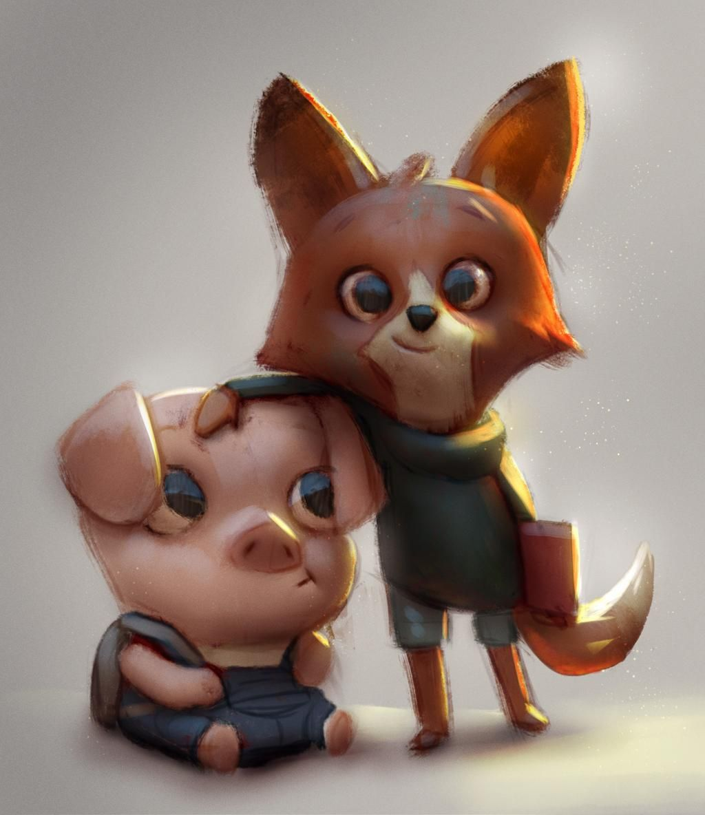 RT @Tysmurph: #PigandFox for @Sketch_Dailies today! #TheDamKeeper  grats to @tonkohouse et al! #Sketch_Dailies