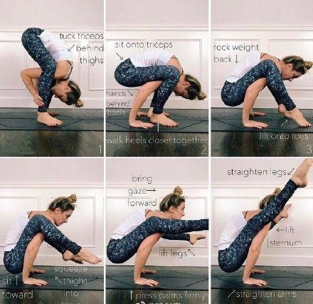 pinfavobodinn on yoga poses  easy yoga workouts hard