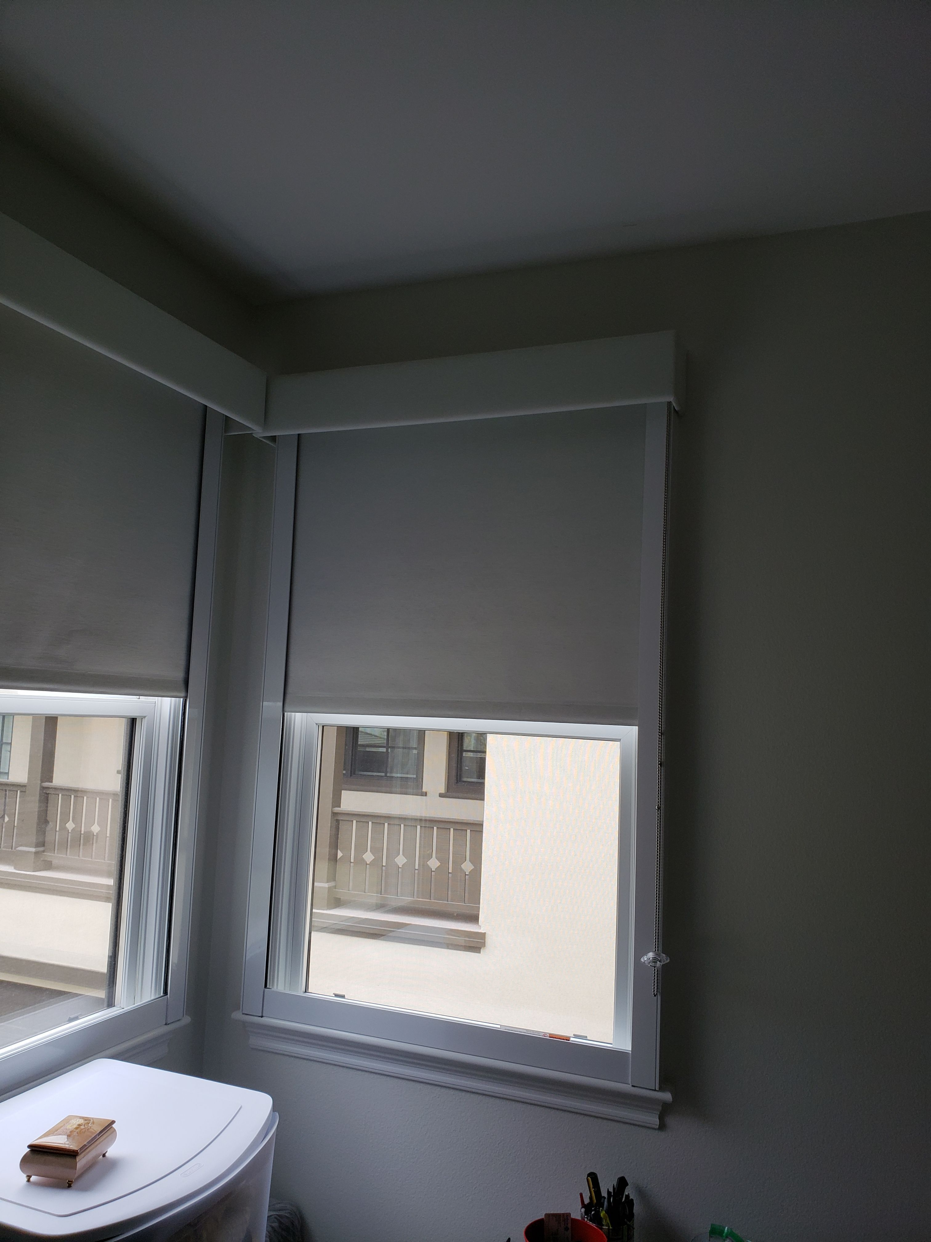 We Installed Blackout Indoor Roller Shades With Side