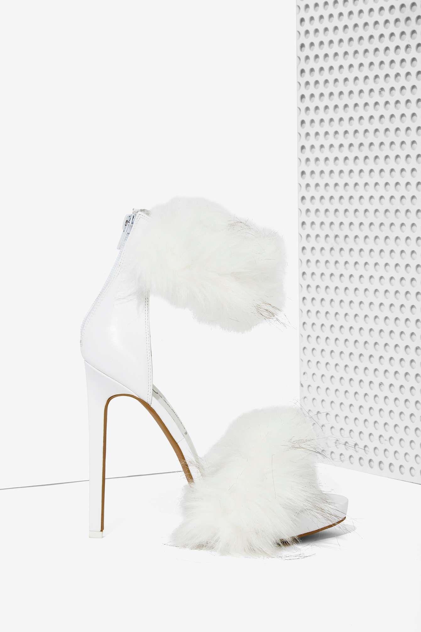Womens High Heels Jeffrey Campbell Uber Leather Feather Heels Heels uk site official