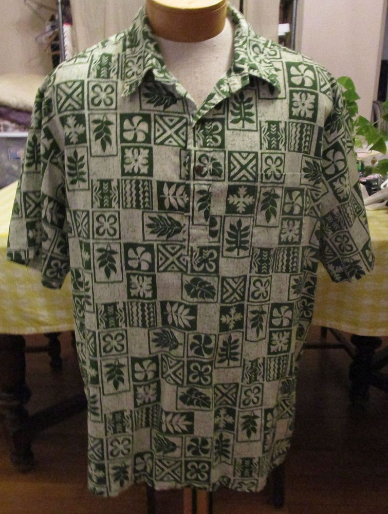Green Sea - Reyn Spooner Hawaiian shirt - green Hawaiian shirt - henley button up mens xxl reyn spooner shirt - reyn spooner pullover shirt UYiVqx