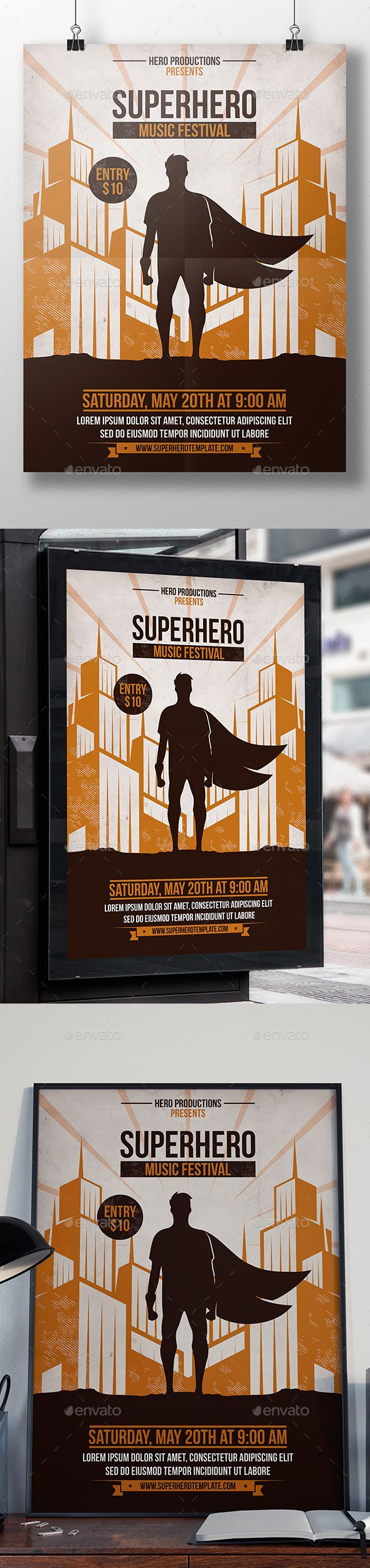 Superhero party flyer template party flyer flyer template and superhero party flyer template saigontimesfo