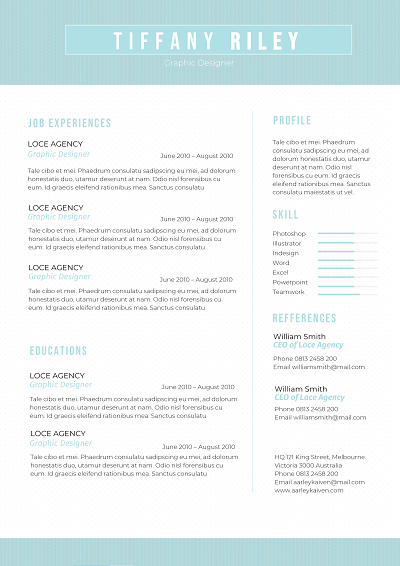 Cliftonia Cover letter template, Chronological resume