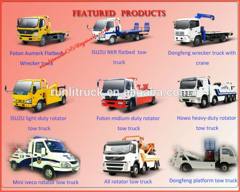 China Tow Truck Factory Direct Sale For Ql10909kary Japanese Brand ...