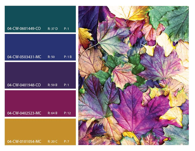 Shop Mood Board •~• jewel tones leaves palette