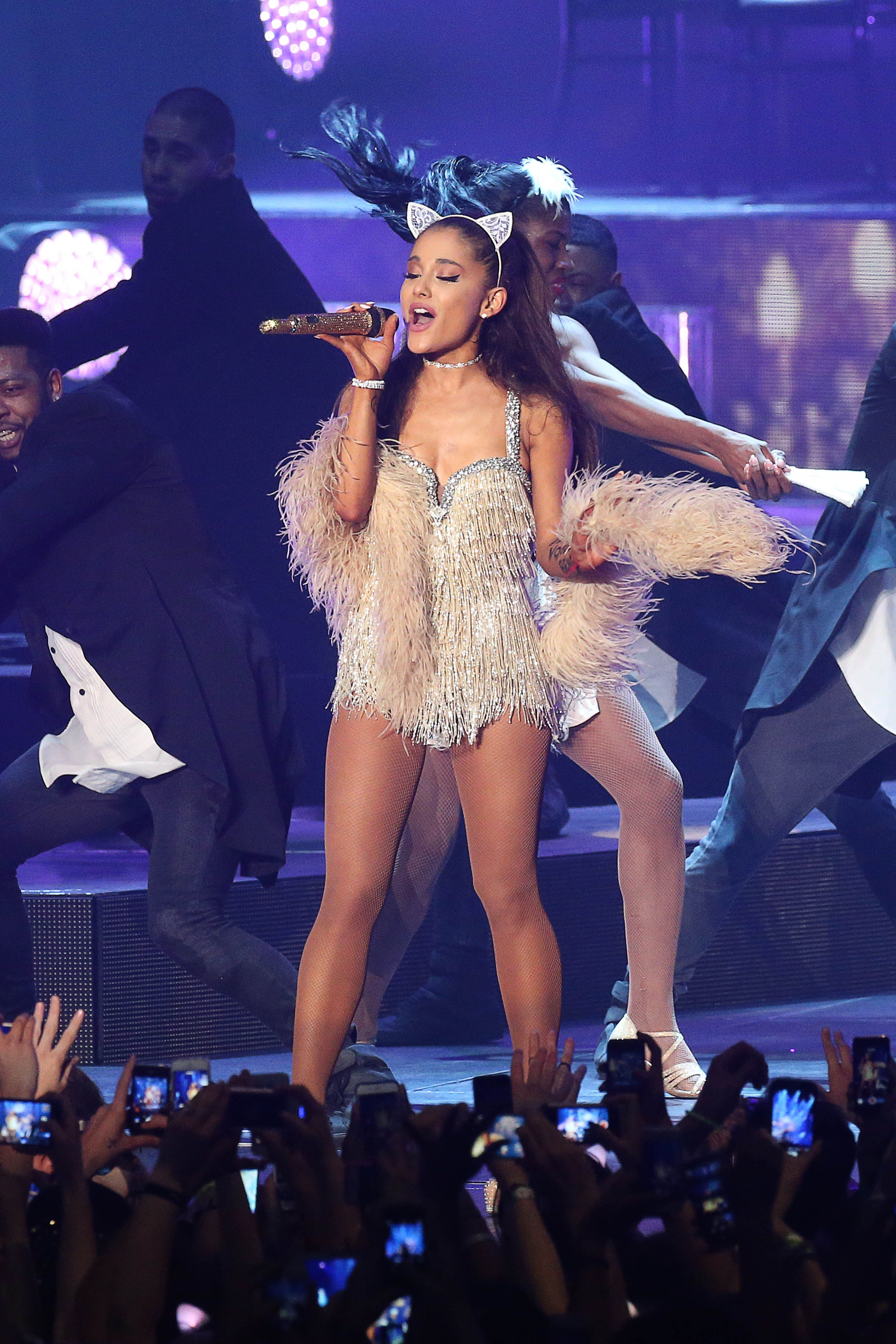9ef1eb286ec All of Ariana Grande s Best Looks (So Far) From Her Honeymoon Tour ...