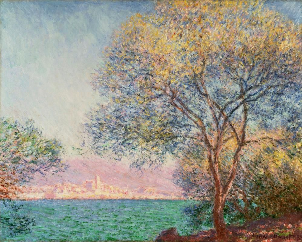 claude monet antibes in the morning 1888 monet pinterest monet peintres. Black Bedroom Furniture Sets. Home Design Ideas