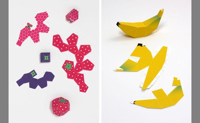 Как сделать овощи и фрукты из бумаги | Бумажные куклы